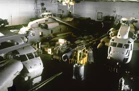 100 Aircraft Carrier Interior An Interior View Of The Hangar Bay Aboard The Nuclear
