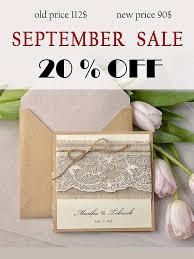 Rustic Wedding Invitation Lace Invites Pocket Fold Invitations Twine