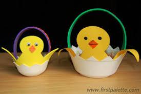 Easter Chick Basket Craft