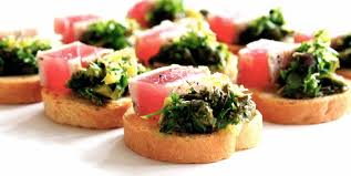 what does canape food canapés bowls