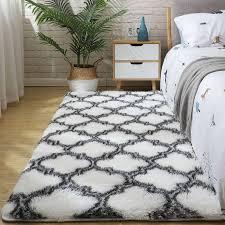flauschigen fell tie dye teppiche für schlafzimmer decor moderne hause boden matte große waschbar nordica wohnzimmer weichen weiß shaggy teppich