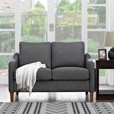 Gordon Tufted Sofa Home Depot by Dorel Living Dorel Living Gordon Loveseat Gray