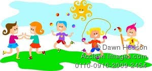 Clipart Illustration Of Group Children Playing Outside
