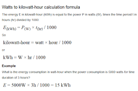 calculate kwh and determine energy use money saving products i