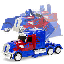 100 Remote Control Semi Truck Best Choice Products 27MHz Kids Transforming RC Robot