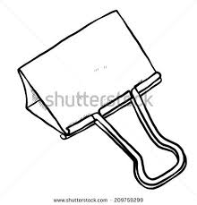 paper clip cartoon vector and illustration black and white hand drawn sketch