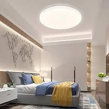 shilook led deckenleuchte dimmbar mit fernbedienung 24w sternenhimmel deckenle für schlafzimmer kinderzimmer küche wohnzimmer rund flach 40cm