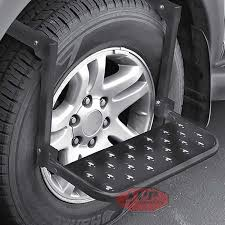 Truck SUV Tire Wheel Step Up Folding Adjustable Ladder Grip PlatForm ...