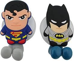 finex superhelden batman zahnbürstenhalter mit saugnapf für die wand im badezimmer zu hause 2 stück