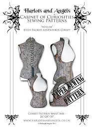 Versailles Tile Pattern Template by Steampunk Asylum Corset Sewing Pattern High Back
