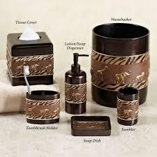 Safari Living Room Decor by African Bathroom Accessories Home Bath Bath Accessories Animal