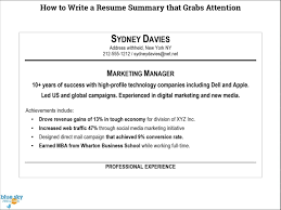 How To Write A Professional Summary For A Resume by How To Write A Resume Summary 21 Best Exles You Will See