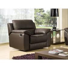 la maison du canapé fauteuil cuir relaxation giorgina la maison du canapé pas cher à