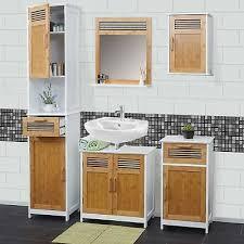 badezimmerset mcw a85 komplett badezimmer badmöbel badset badschrank bambus weiß