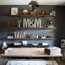 Surprising Home Office Shelf Ideas Stunning Shelves For Best 25 Industrial Offices