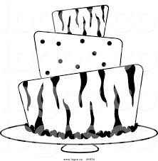 Royalty Free Vector of a Black and White Zebra and Polka Dot Cake Logo