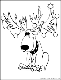 Reindeer Coloring Pages Rudolph Page
