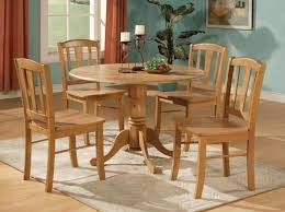 Kitchen Table Conventional Round Oak Kitchen Table Elegant Light