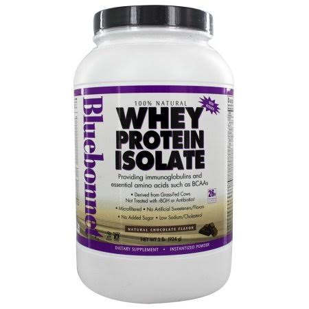 Bluebonnet Nutrition Natural Whey Protein Isolate Powder - Chocolate Flavor, 2lbs