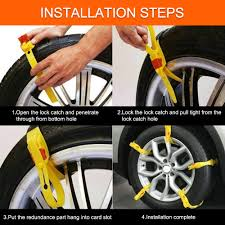 Car Snow Chains, Car Security Chains Anti-slip Tire Chains Snow ...