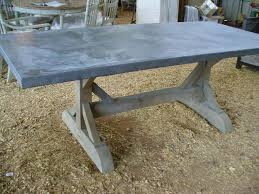 Zinc Top Table Style