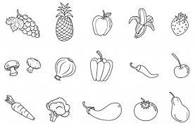 Fruit And Veg Coloring Pages Google Search Colouring With Regard To Vegetable