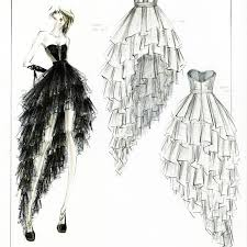 Awesome Sketch Gown Design Pictures