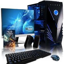 ensemble ordinateur de bureau vibox complete pack 3 pc gamer intel 4 r7 360 gaming