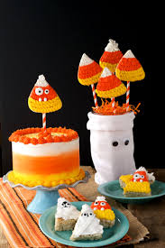 Cakes Decorated With Candy by How To Make A Candy Corn Cake The Bearfoot Baker