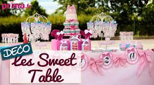 decoration pour anniversaire les sweet table idée déco pour un buffet d anniversaire