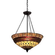 Tiffany Style Lamps Canada by Shop Portfolio 27 In Rust Tiffany Style Single Stained Glass