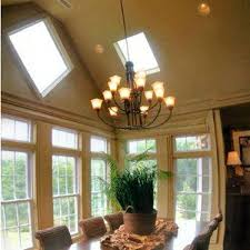 Recessed Lighting Vaulted Ceiling With Classic Dining Room Design