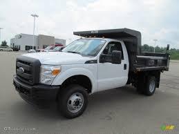 100 Ford F350 Dump Truck Oxford White 2012 Super Duty XL Regular Cab 4x4