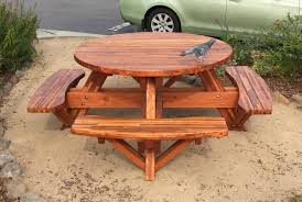 how to make a round picnic table with seats friendly woodworking