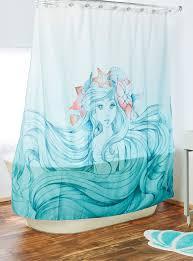 disney the little mermaid shower curtain boxlunch