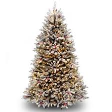 Dunhill Green Fir Artificial Christmas Tree With Clear Lights Stand