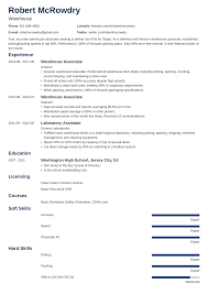 Warehouse Resume: Sample And Complete Guide [+20 Examples] Telecom Operations Manager Resume Sample Warehouse And Complete Guide 20 Examples Templates Bilingual Skills On New Worker 89 Resume Examples For Warehouse Associate Crystalrayorg Objective Sarozrabionetassociatscom Profile Social Work Lovely 2019 To Samples Rumes Logistics Template 34 Managerume Assistant Senior Staffing Codinator Perfect