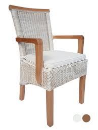 esszimmer stuhl mit armlehnen rattanstuhl weiß perth mit