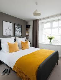 inspirierende schlafzimmer ideen in leuchtendem gelb und