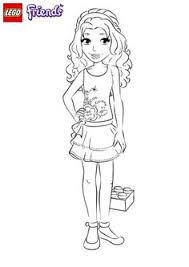 Lego Friends Sitting Coloring Page For Kids