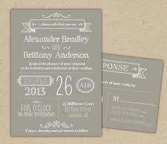 Diy Vintage Western Rustic Wedding Invitation Template With