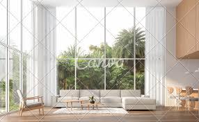 100 Interior Design High Ceilings Modern Contemporary High Ceiling Living Room 3d Render