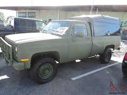 100 Chevy Military Trucks For Sale 1984 4x4 Pickup Truck For