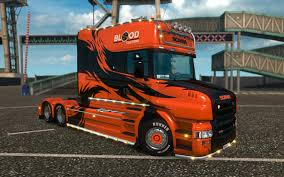 SCANIA T RJL ORANGE TRIBAL SKIN ETS2 | Skins | Euro Truck Simulator ...