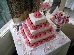 Cake With Gerbera Daisies By Designs Courtney Via Flickr