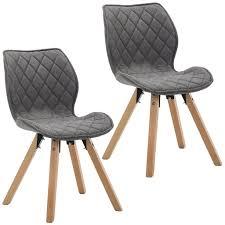 duhome 2er set esszimmerstuhl stoff dunkelgrau konferenzstuhl vintage design stuhl retro