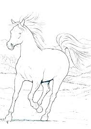 Horse Coloring Pages Running Free Printable Wild
