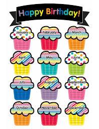 Just Teach Birthday Chart