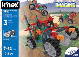 100 Demolition Truck KNex 4WD Crayons