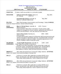 chronological resume template 28 free word pdf documents